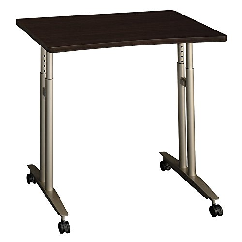 Bush Business Furniture Series C 36W Adjustable Height Mobile Table in Mocha Cherry