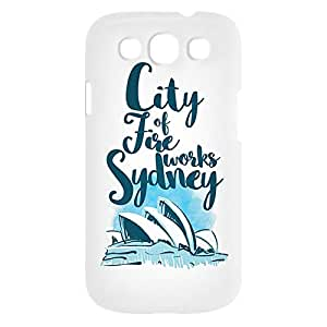 Loud Universe Samsung Galaxy S3 City Of Fire Works Sydney Print 3D Wrap Around Case - White/Blue