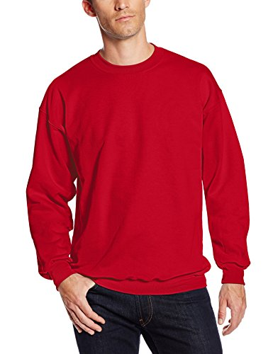 - Hanes Men's Ultimate Heavyweight Fleece Sweatshirt, Deep Red, Large