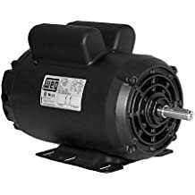 "5 HP SPL Compressor Motor Electric 56 Frame Single Phase 3455 rpm, 5/8"" Shaft"