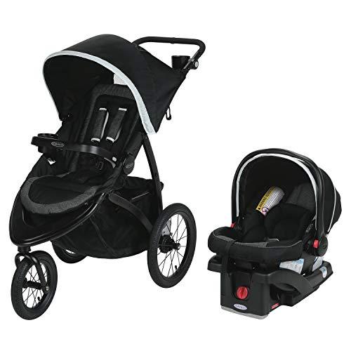Graco Roadmaster Jogger Travel System | Includes Roadmaster Jogging Stroller and SnugRide SnugLock 30 Infant Car Seat, Drift