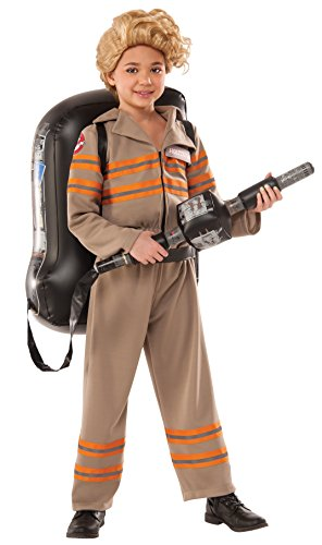 Ghost Costumes Girl (Rubie's Costume Ghostbusters Movie Deluxe Child Costume, Small)