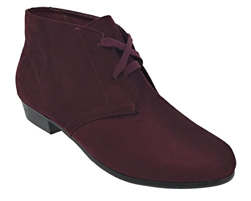 MVE Shoes Extra Confortable Lace Up Ankle Wedge Bootie, Beautiful Cusione Inside