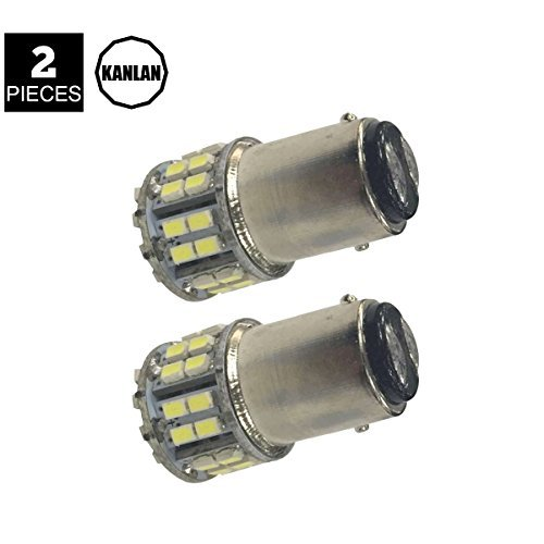 KANLAN 2x BAY15D 1157 50SMD 1206 T25 Car Rear Tail Reverse Bulbs Brake Park Light, High Bright Color 12V LED