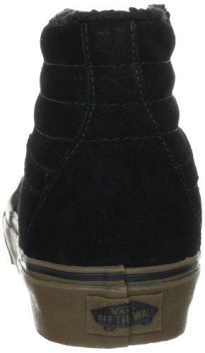 Vans Sk8 Hi - Botas de skate con forro unisex Negro (Schwarz Fleece) black/dark gum)