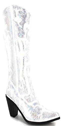 Helens Heart Bling Boots (8, White) -