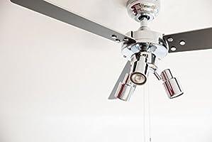 Ventilatore a soffitto Cyrus con illuminazione 107 cm in BIANCO