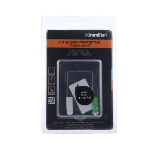 Commlite Self-adhesive 0.5mm Optical Glass Camera LCD Screen Protector for Pentax K5 II