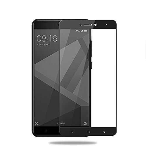 GerTong 2.5D Edge Full Cover Steel Tempered Glass For Xiaomi Redmi Note 4 X 32G/Note 4 Global Screen Protector For Redmi Note4X/Note4 9H Hardness Anti-Scratch Glass Phone Guard Screen Film (Black)