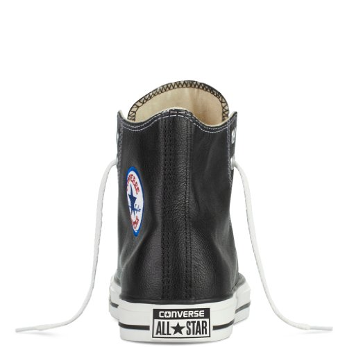 Adulte Converse Mixte Hi Cuir Taylor Hautes Baskets Chuck Noir Mono Lea qw6HU8