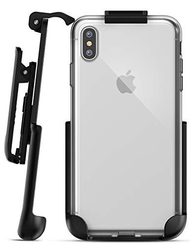 Encased iPhone Xs MAX Belt Clip Clear Case with Holster Clip, Ultra Slim Transparent Grip Cover and Belt Holder for Apple iPhone Xs MAX Phone