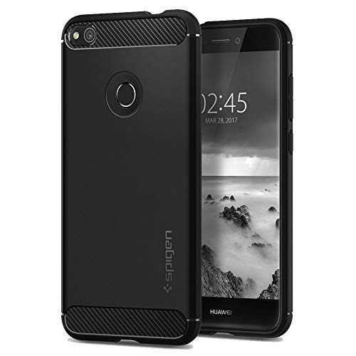 Spigen Rugged Armor Huawei P8 Lite 2017 Case with Resilient Shock Absorption and Carbon Fiber Design for Huawei P8 Lite (2017)/nova lite/P9 lite ...