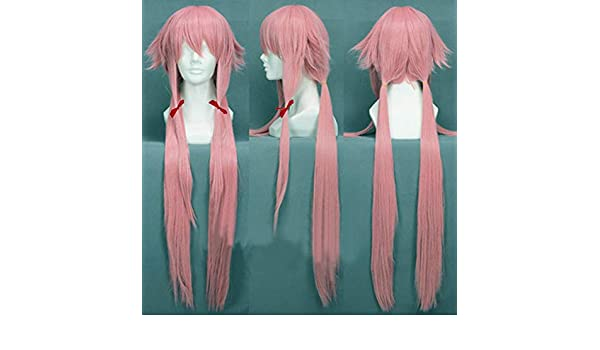 Free Hair Cap + Already Styled Murata Tomosa Mirai Nikki Gasai Yuno Cosplay Wig by Anogol: Amazon.es: Belleza
