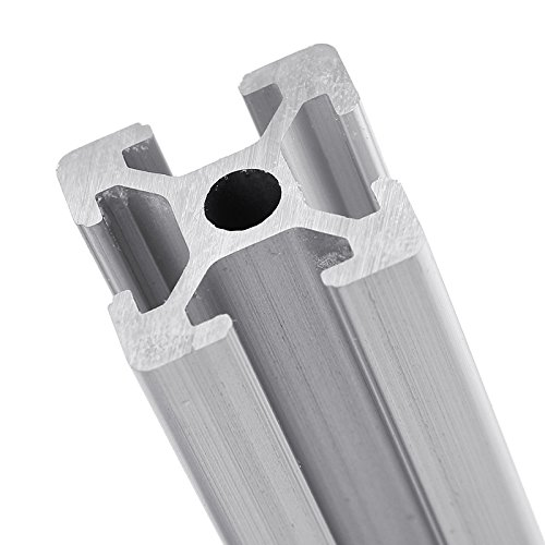 Kee Pang 20 Series,20mm x 20mm T-Slotted Extrusion x 600mm Length 2020 Single T-Slot Aluminum Profiles Extrusion Frame for CNC