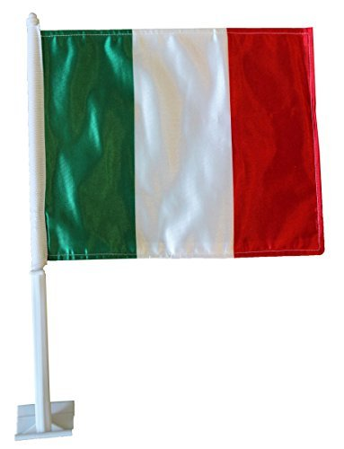 World Cup Soccer Italy Country Car Flag by Flagline by Flagline