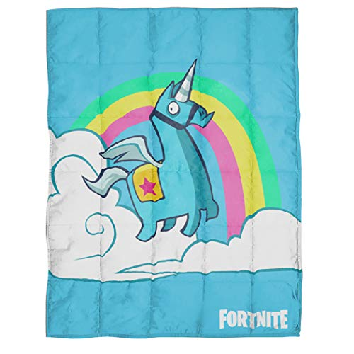 Cheap Jay Franco Fortnite Brite Unicorn Weighted Blanket 4.5 lbs - Measures 36 x 48 inches Kids Bedding - Fade Resistant Super Soft Velboa - (Official Fortnite Product) Black Friday & Cyber Monday 2019
