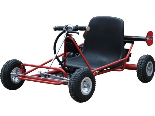 MotoTec MT-04 24 Volts Solar Electric Go Kart - Red by MotoTec