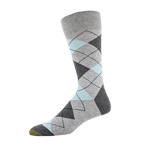 - Gold Toe Men's Patterned Fashion Dress Crew Socks, 1 Pair, Combed Cotton Argyle, Shoe Size: 6-12.5