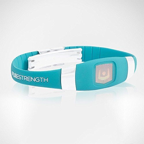Purestrength Ion Sports Band Healthy Wristband Negative infused Oxygen Elite UNI (TURQUOISE / WHITE)