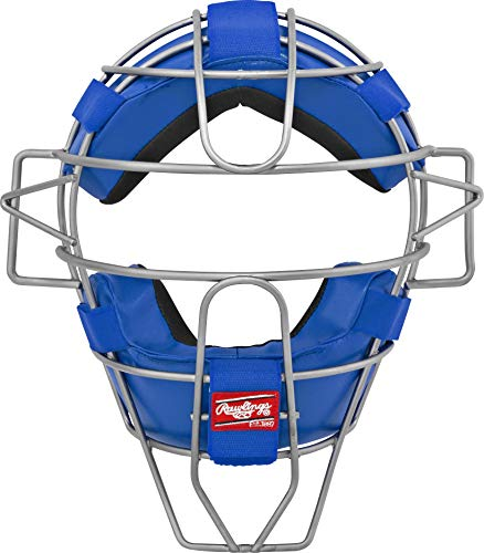 Blue Catchers - Rawlings Ultra Lightweight Adult Catcher's Face Mask, Royal Blue