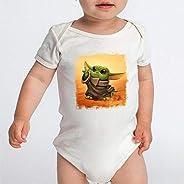 Body Bebê Star Wars Baby Yoda Serie Personagem (Branco)