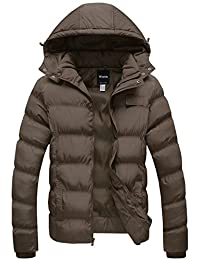 Wantdo Men's Lightweight Hooded Puffer Jacket