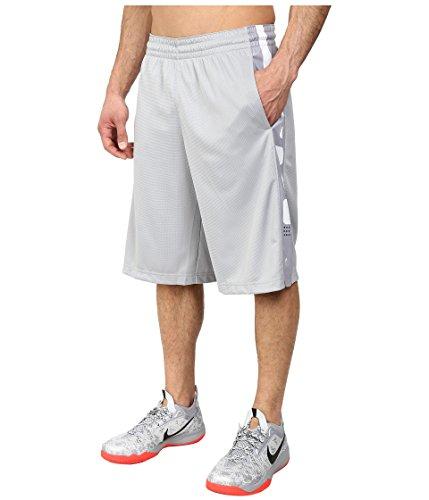Nike Men's Elite Stripe Short, Wolf Grey/White, MD X 12