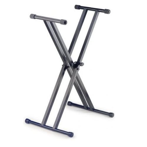 Stagg KXS-A6 Dual X-Style Keyboard Stand with 5 Locking Positions - Black (Double X-style Brace)