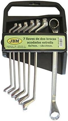 JBM 50562 Llaves acodadas de 2 Bocas Estrella