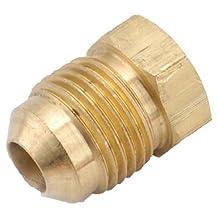 "ANDERSON METALS 754039-06 3/8"" Brass Flat Plug"