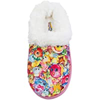 Shopkins Toddler Girls Round Toe Cushioned Clog Slippers with Plush Collar (See More Sizes)