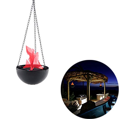 Unetox Flame Lamp Simulation Flame Light Electronic Hanging Brazier Lamp Halloween Party Decorative -