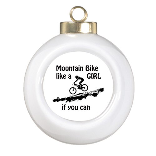 Christmas Decoration Mountain bike like a girl Photo Frame Ball Ornament