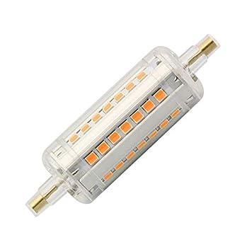 Bombilla LED R7S Slim 78mm 5W Blanco Frío 6000K efectoLED: Amazon.es: Iluminación