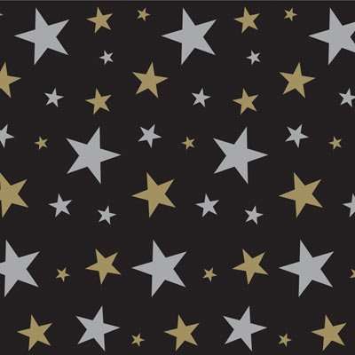 [Beistle 52102 Star Backdrop, 4-Feet by 30-Feet] (30 Second Costumes)