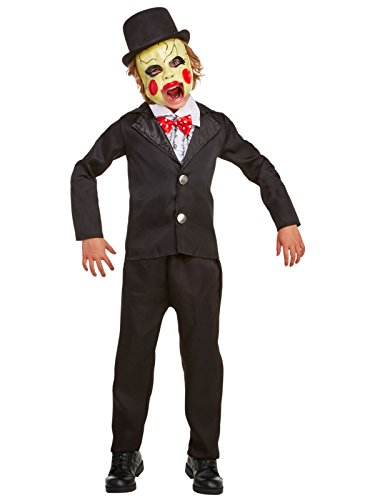 Creepy Doll Costumes For Kids (Villainous Ventriloquist Child Costume (8-10))
