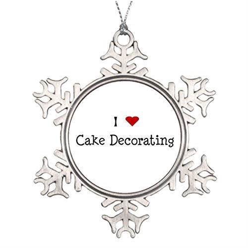 Metal Ornaments Wedding Cake Food And Related Tree Branch Decoration Pewter Snowflake Ornaments