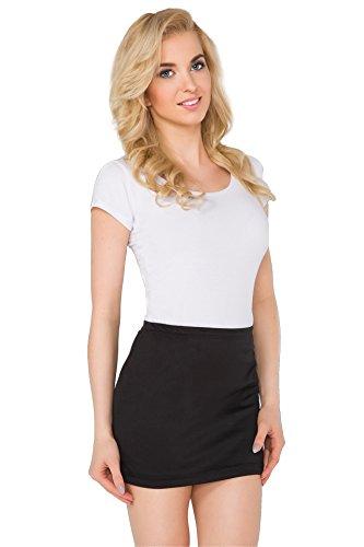 FUTURO FASHION® Womens Pencil Mini Skirt Stretchy Summer Elasticated Bodycon Plus Sizes 8-22 PA11