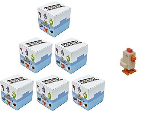 Crossy Road Mystery Mini Figure Blind Box Set of 6 : Includes 6 Random Bind Figures