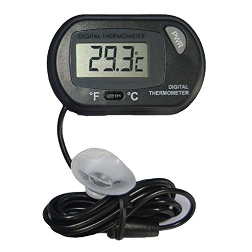 Wired Lcd - Pocktyle New Digital LCD Waterproof Little Sensor Wired Thermometer Meter Reptile Temperature