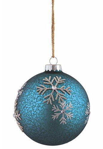 - Snowflake Motif Glass Ball Ornament 4