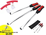 "Automotive : Dr.Roc Tire Spoons Lever Iron Tool Kit Motorcycle Bike Professional Tire Change Kit w/ Bag - 14.5""+11""+ 2 Rim Protectors"