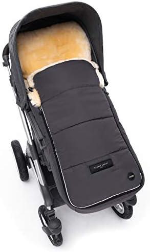 saco universal para coche Saco beb/é invierno AROSA de piel de cordero para carrito de WERNER CHRIST BABY color: azul navy sillas de paseo o Buggy Curtido medicinal