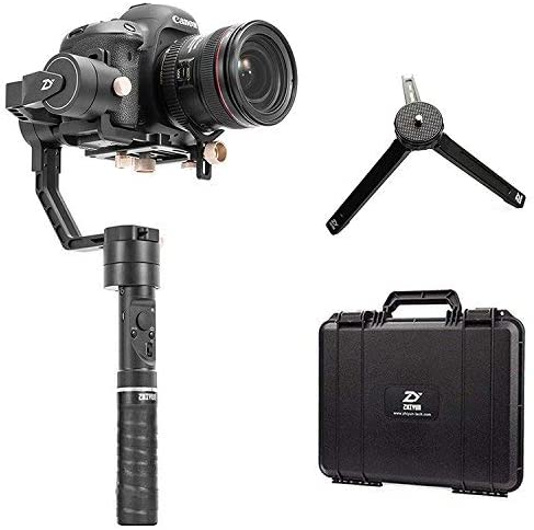 Zhiyun Crane Plus 3 Axis Handheld Gimbal Stabilizer 2500g Payload Support Long Exposure Time Lapse MotionMemory Object Tracking for Canon Nikon Sony Panasonic Including Tripod