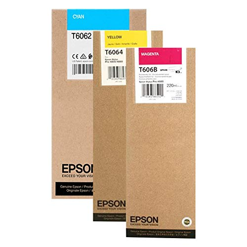 EPSON EPSON Stylus PRO 4880 HI Yield Ink (220 ml) Cartridge Set (Cyan Yellow Magenta) ()