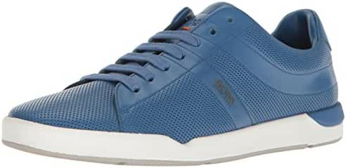 BOSS Orange by Hugo Boss Men's Stillness Perforated Leather Fashion Sneaker