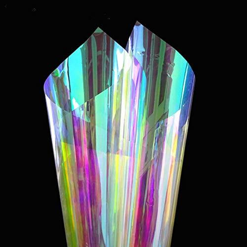 meosu Window Stickers Film Self Adhesive 60 X 300 cm Window Film Decorative Color Changing Iridescent Rainbow Effect Window Sticker from meosu