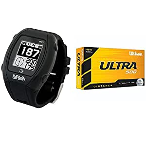 Golf Buddy WT3 Enhanced Golf GPS/Rangefinder Watch (Black) (Black Bundle 1)