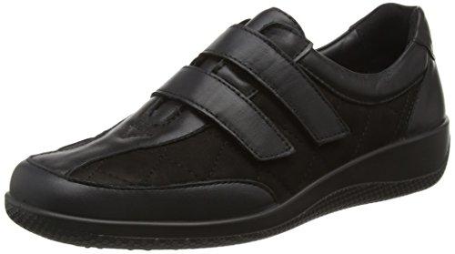 Hotter 1822, Zapatos con velcro para mujer Negro (Black)