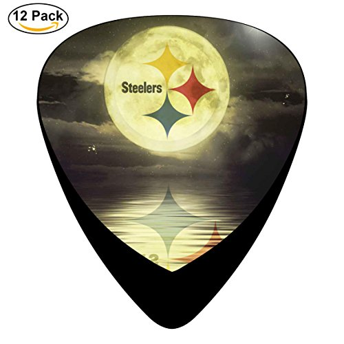 SteeNF Celluloid Guitar Picks Music for Boyfriend 12-Pack (Black) - Sf Maverick